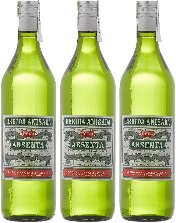 3 Botellas de Deva Absenta Bebida Anisada - 700 ml. - Total 2100 ml.