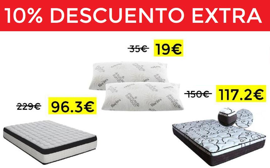 10% Extra en dormitorio desde 19€