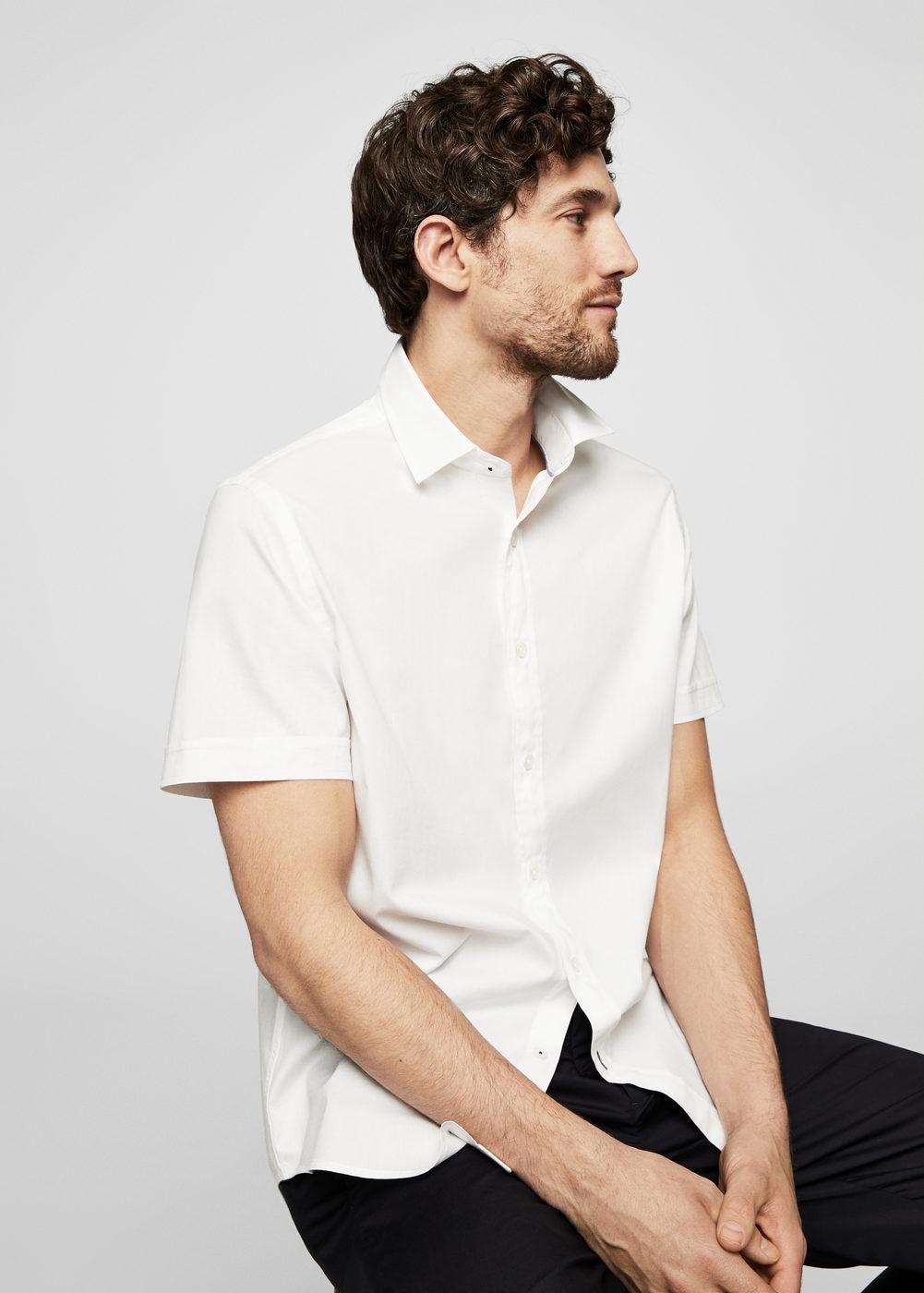 Camisa slim fit algodón CHOLLAZO Mango Outlet