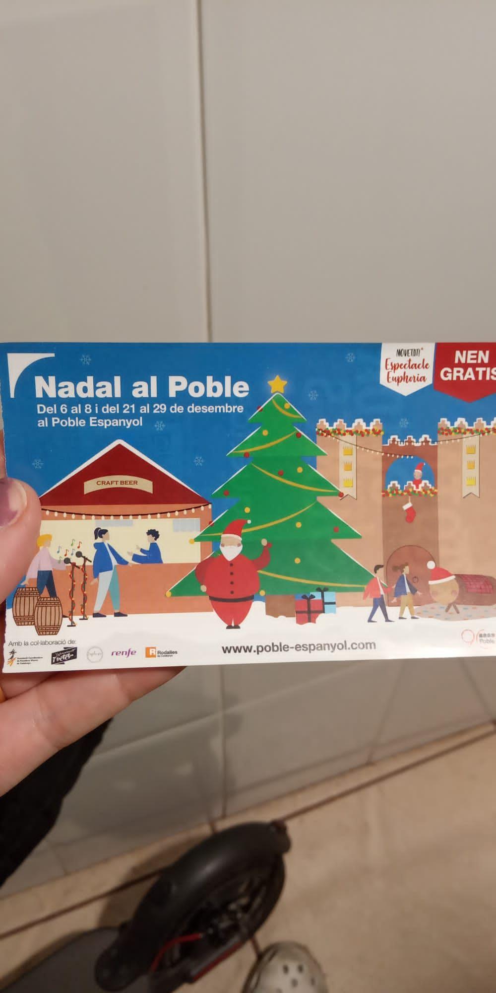 Entrada gratis para niños al Pueblo Español.