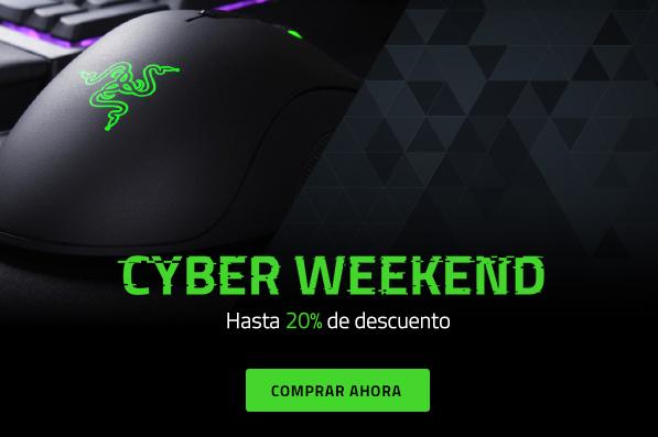Razer Cyber Weekend Hasta -20% de descuento