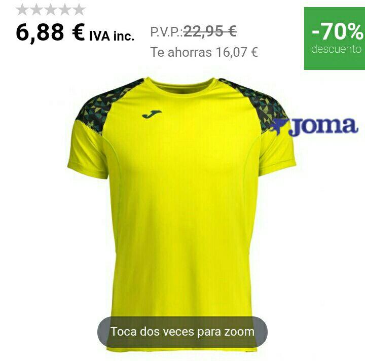Camiseta Joma Hybrid II (Tallas S y XL)