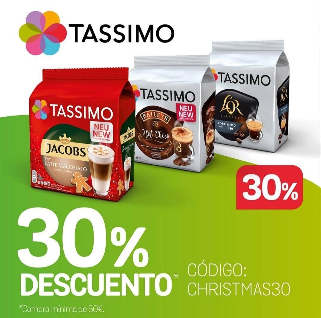 30% descuento bebidas Tassimo