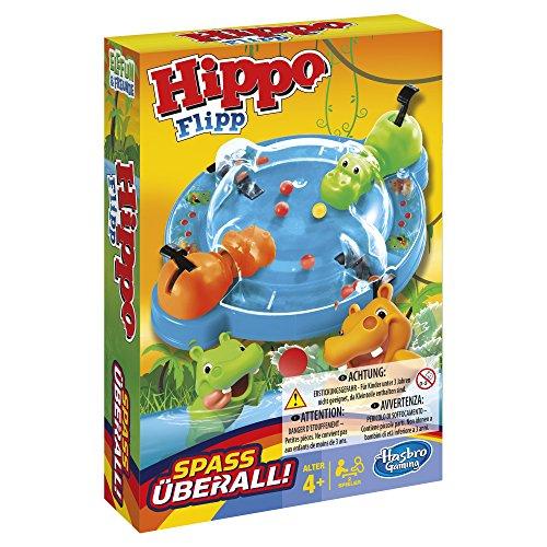 (PLUS) - (REACO) Hasbro Hippo Flipp Kompakt - Tragabolas (COMO NUEVO y MUY BUENO)