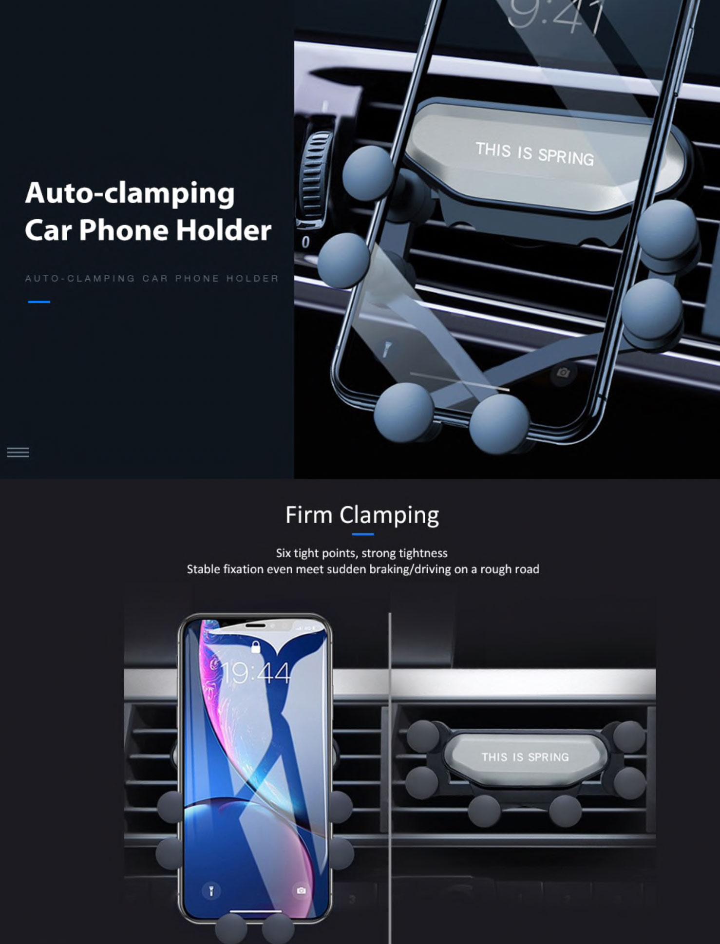 Soporte de gravedad para el coche Gocomma Auto-Clamping Car