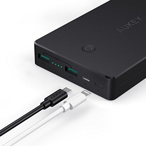 AUKEY Batería Externa 20000mAh (Código en la descripción)