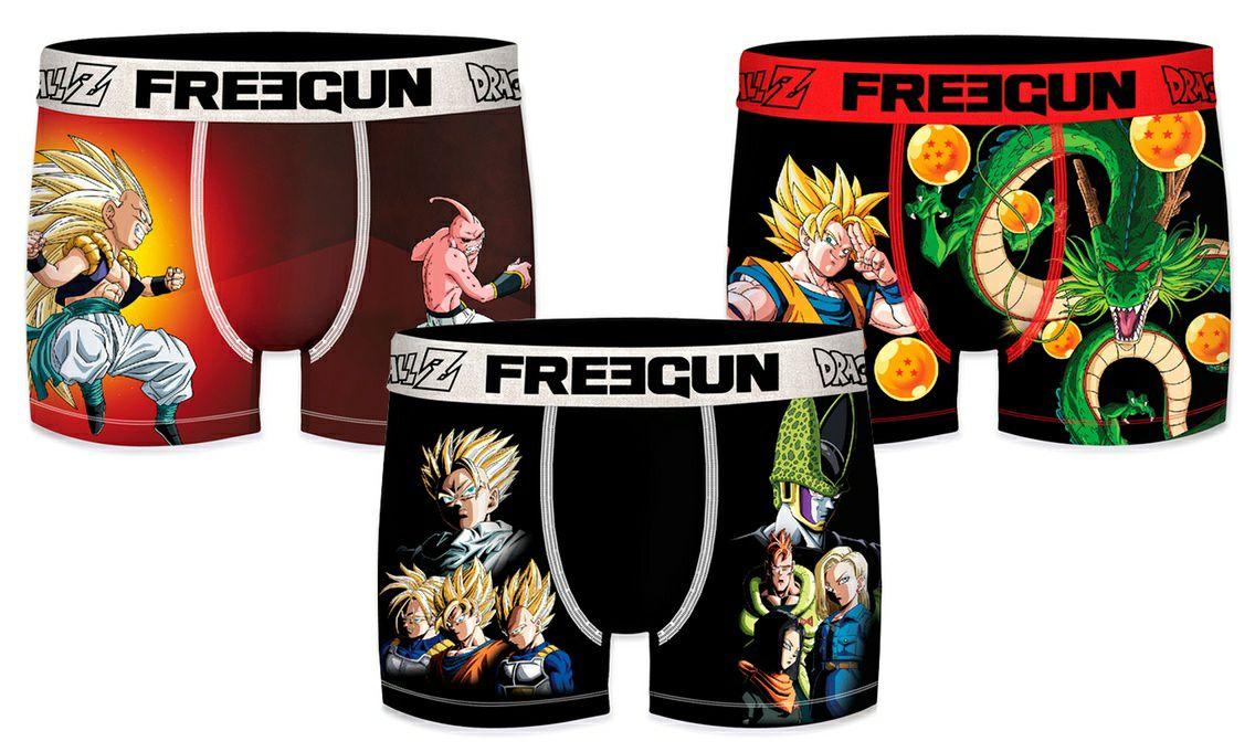 3x Boxers FREEGUN Dragon Ball (todas las tallas)
