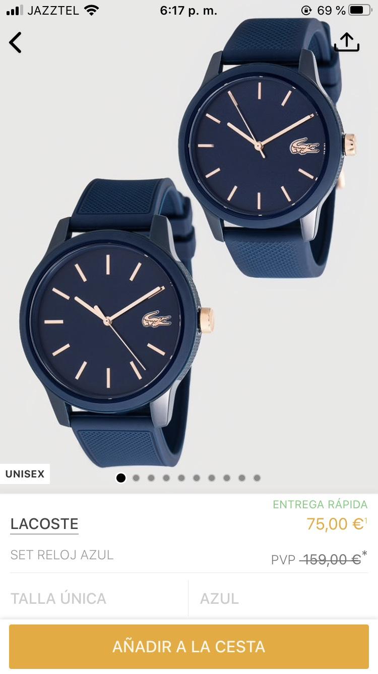 Set de reloj 159€ a 75€