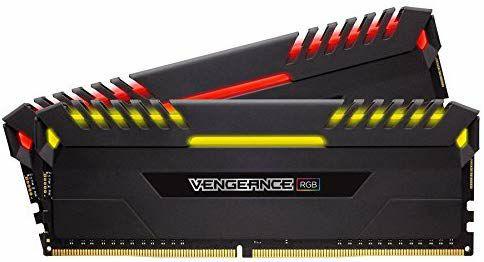 Corsair Vengeance RGB - Kit de memoria Entusiasta de 32 GB (2 x 16 GB, DDR4, 2666 MHz, C16, XMP 2.0) negro