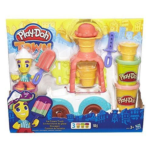 Play-Doh - Camión de Helados con Botes de plastilina [PLUS]
