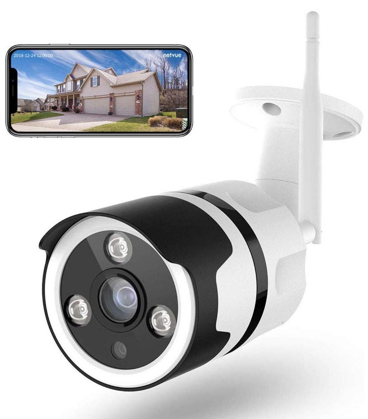 Cámaras de Vigilancia WiFi Exterior, Netvue FHD 1080P