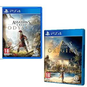 Assassin's Creed Odyssey y Origins cada uno (Físico, PS4)