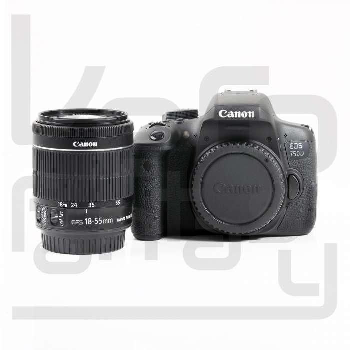 Canon EOS 750D DSLR Camera + EF-S 18-55mm f/3.5-5.6 IS STM Lens Kit