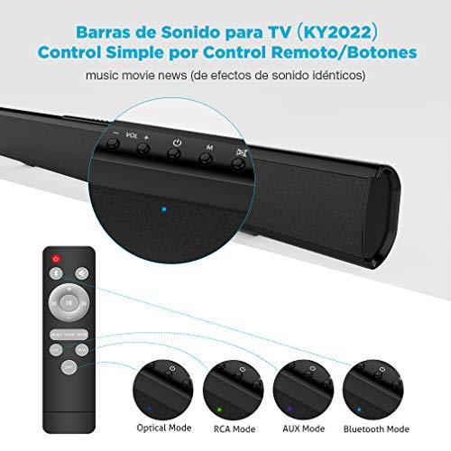 Meidong Barras de Sonido para TV, Barras de Sonido Bluetooth Soundbar