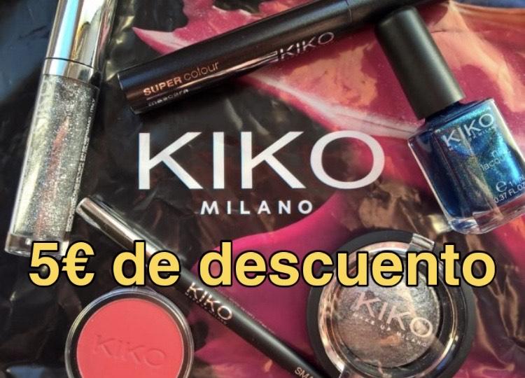 Descuento de 5€ gastando 30€ en Kiko