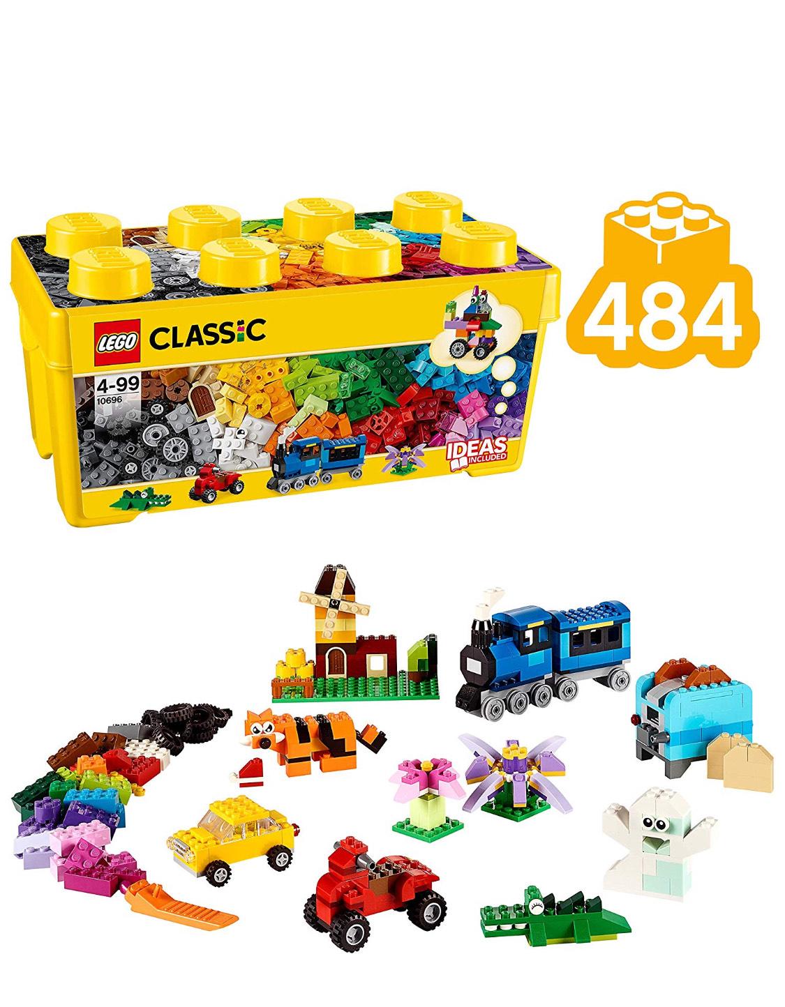 LEGO Classic - 484 Bloques. Caja de Ladrillos Creativa Mediana