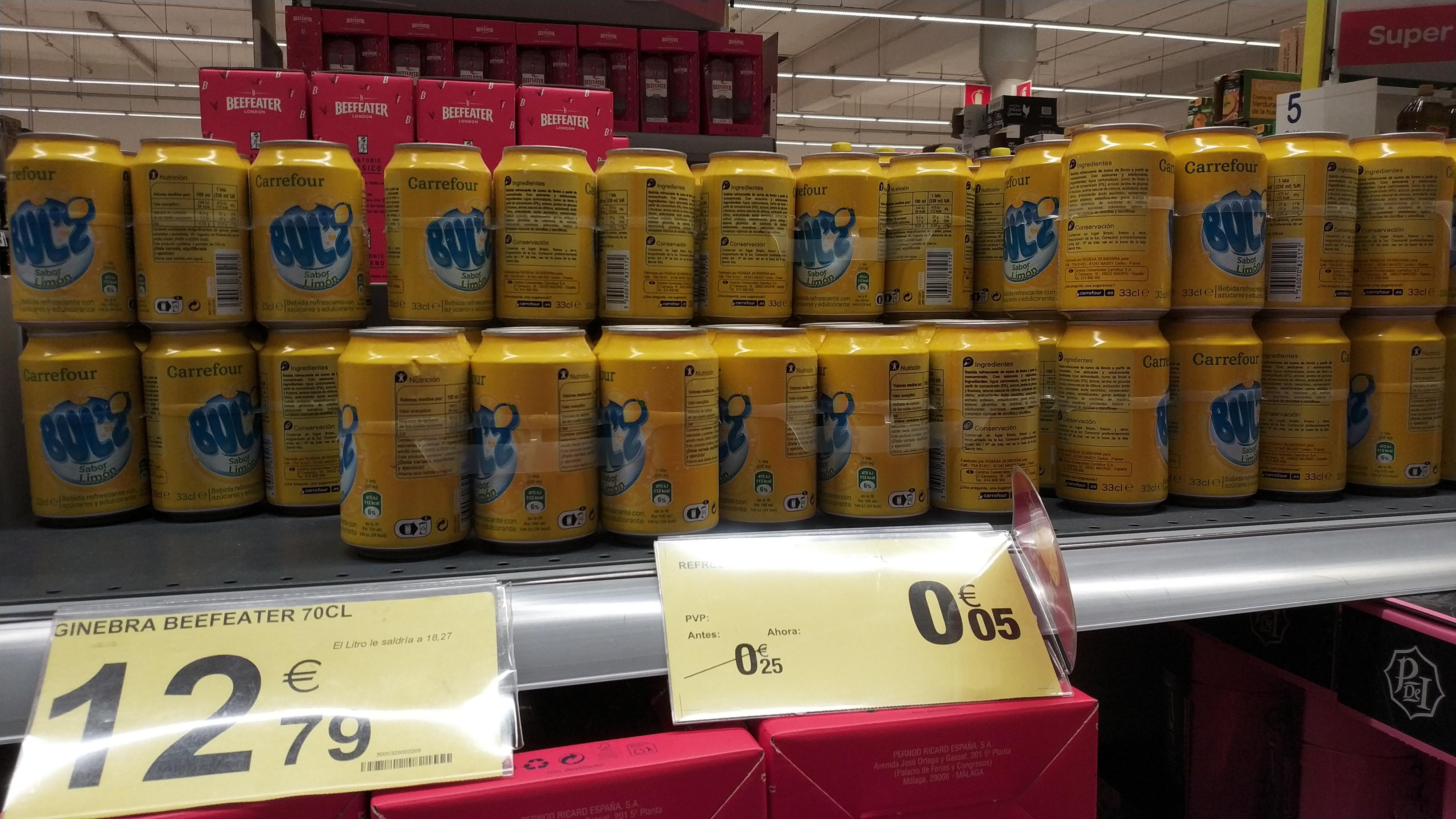 Refresco de limón Carrefour lata a 0.05€ (Carrefour travesía de Vigo)