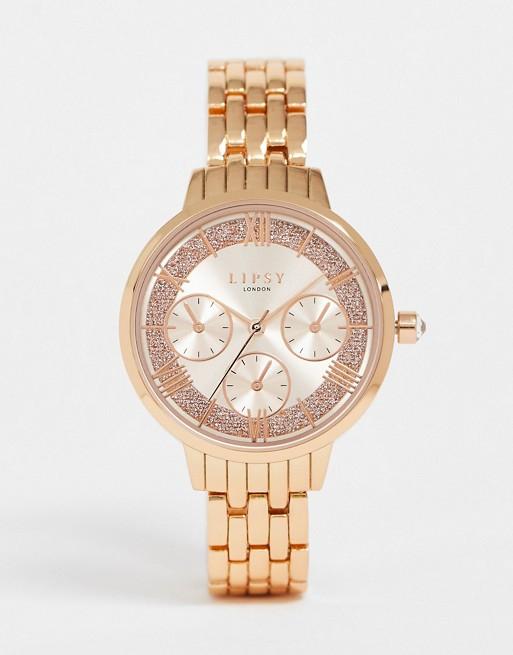 Reloj de pulsera de mujer en dorado rosa LP636 de Lipsy