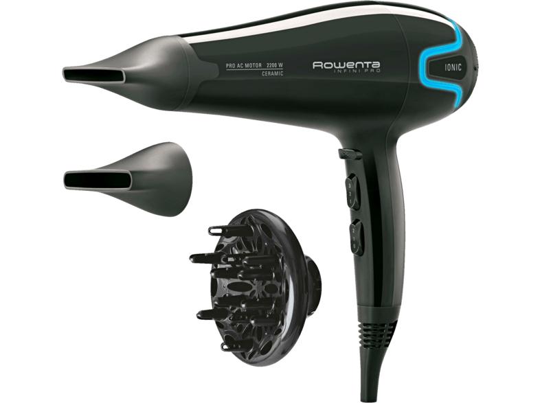 Secador de pelo - Rowenta CV8730AC Infini Pro Beauty, 2200W, Función Iónica, Motor AC