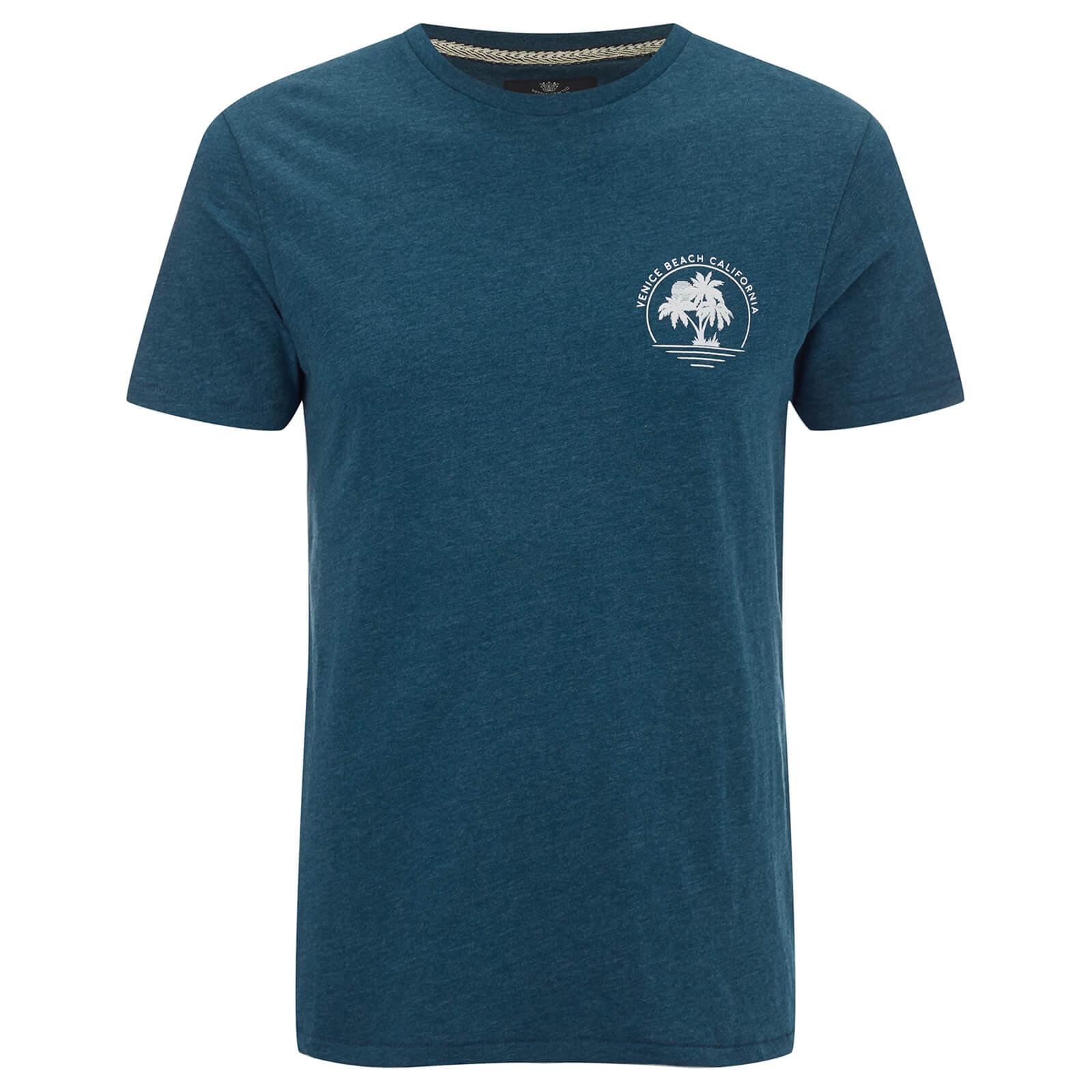 Threadbare Men's Venice Beach T-Shirt - Ocean Blue Marl Talla. s
