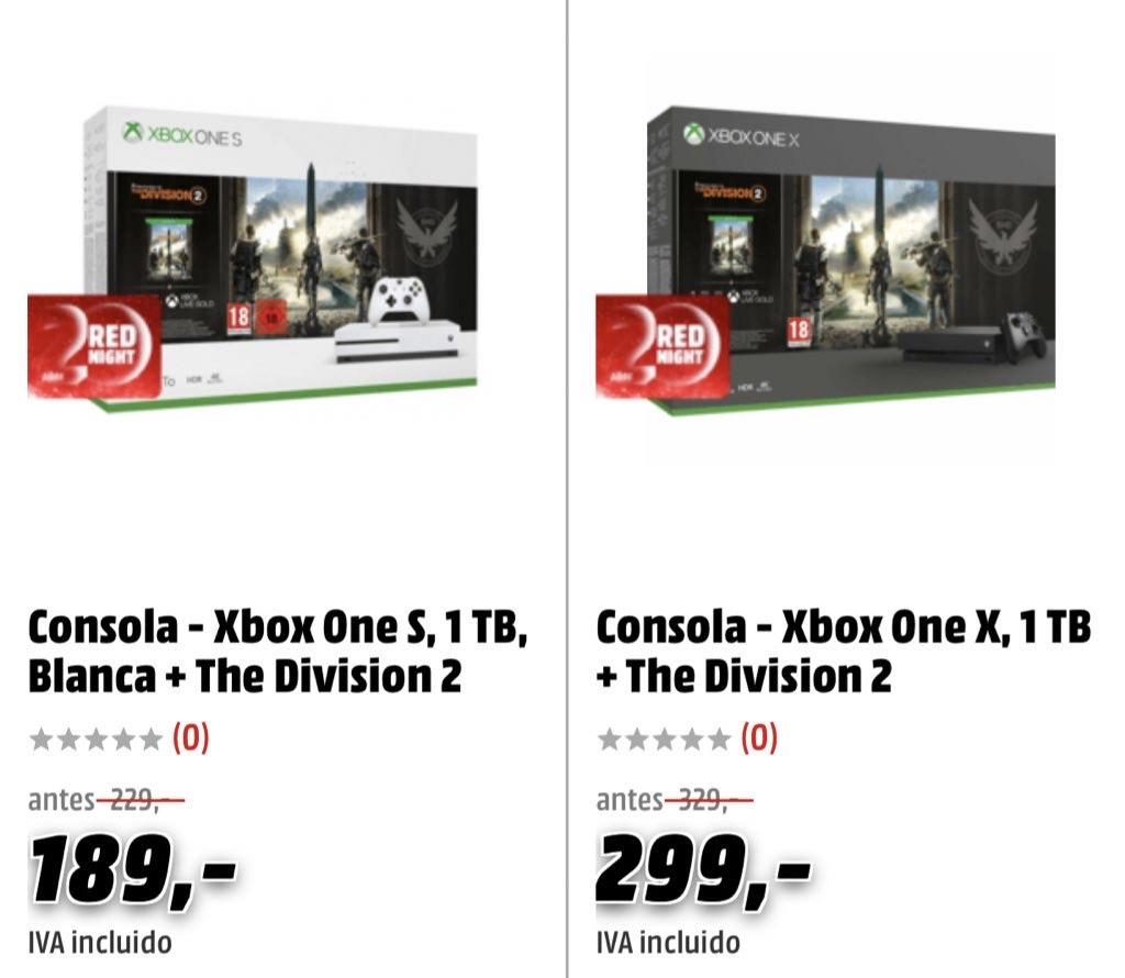 Oferton en consolas Xbox One