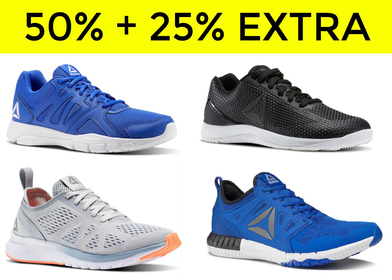 50% en REEBOK + 25% EXTRA en la tienda oficial