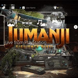 PS4: Gratis, tema dinámico y avatares Jumanji