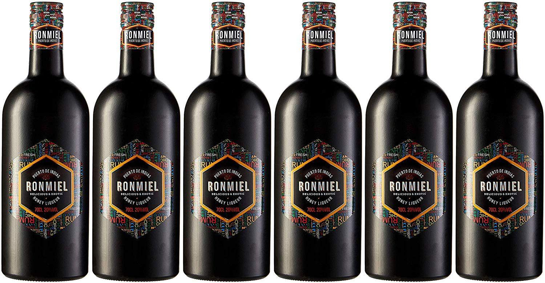6 botellas de Ron Miel Puerto de Indias - 700 ml. - Total: 4200 ml.
