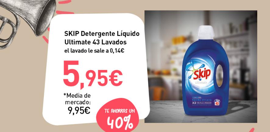 Ofertas en Primaprix. Skip 43 lavados 5.95 / Peluches TY 24cm 5.95 y más