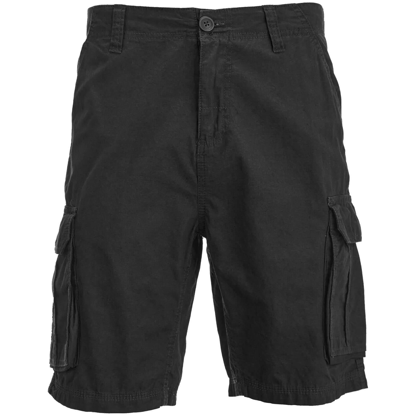 Brave Soul Men's Riverwood Cargo Shorts - Black talla S