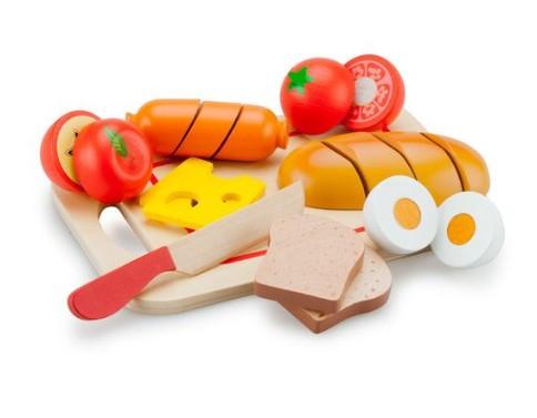 Set de comida de madera para niños