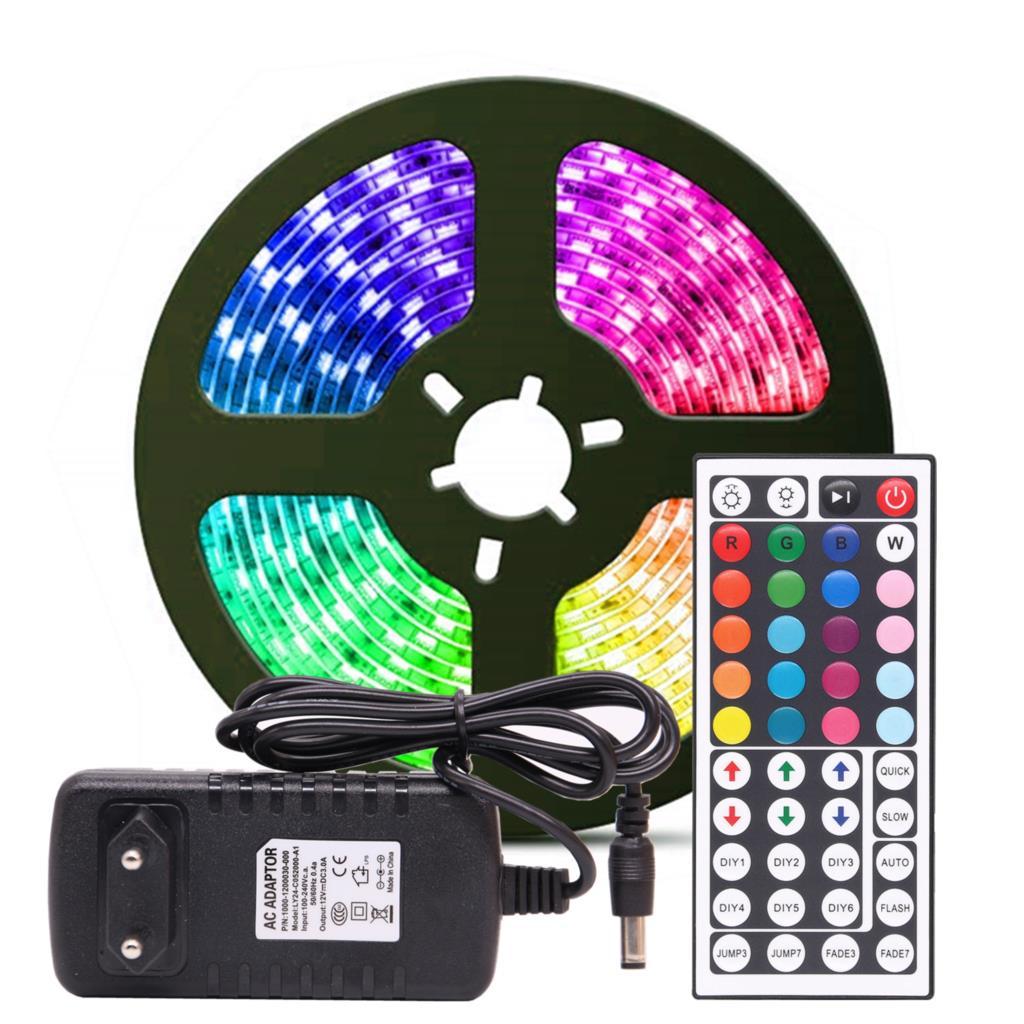 Tiras Led RGB 5+5M 2835 IP65 con mando a distancia y transformador