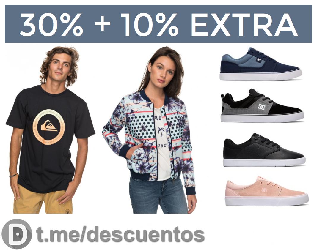 30% + 10% EXTRA en Quiksilver, Roxy y DC