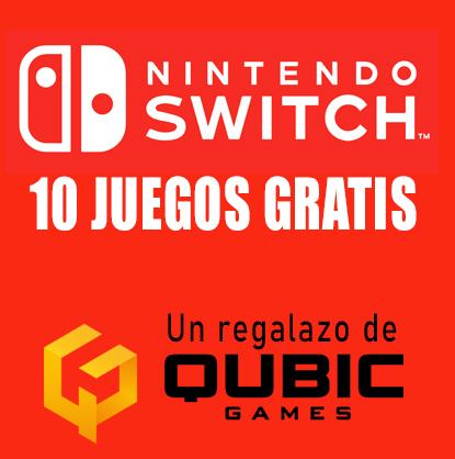 QubicGames regala 10 juegos para Nintendo Switch