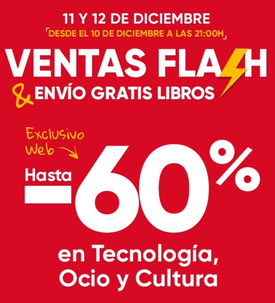 11 y 12 de Diciembre Ventas Flash en Fnac Online