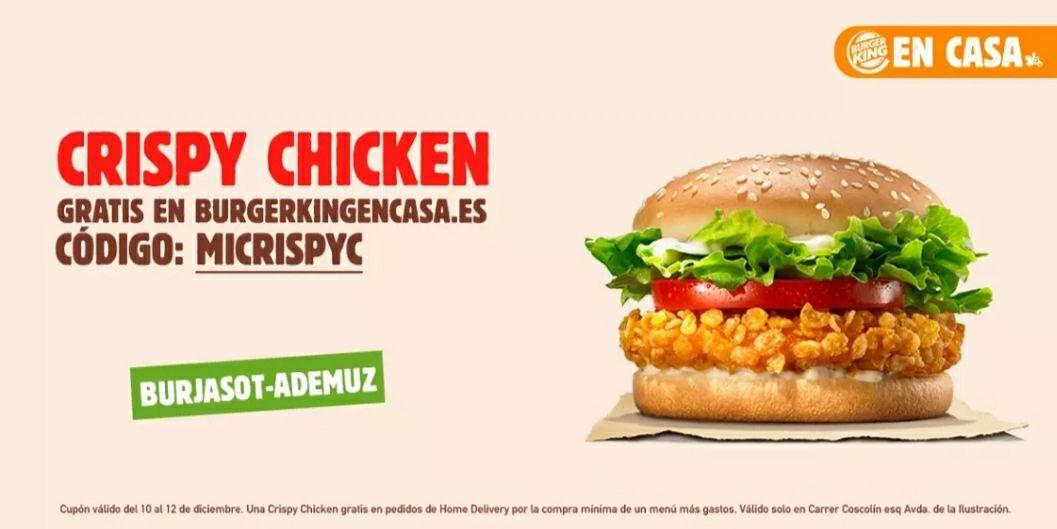 Gratis crispy chicken Burjassot-Valencia