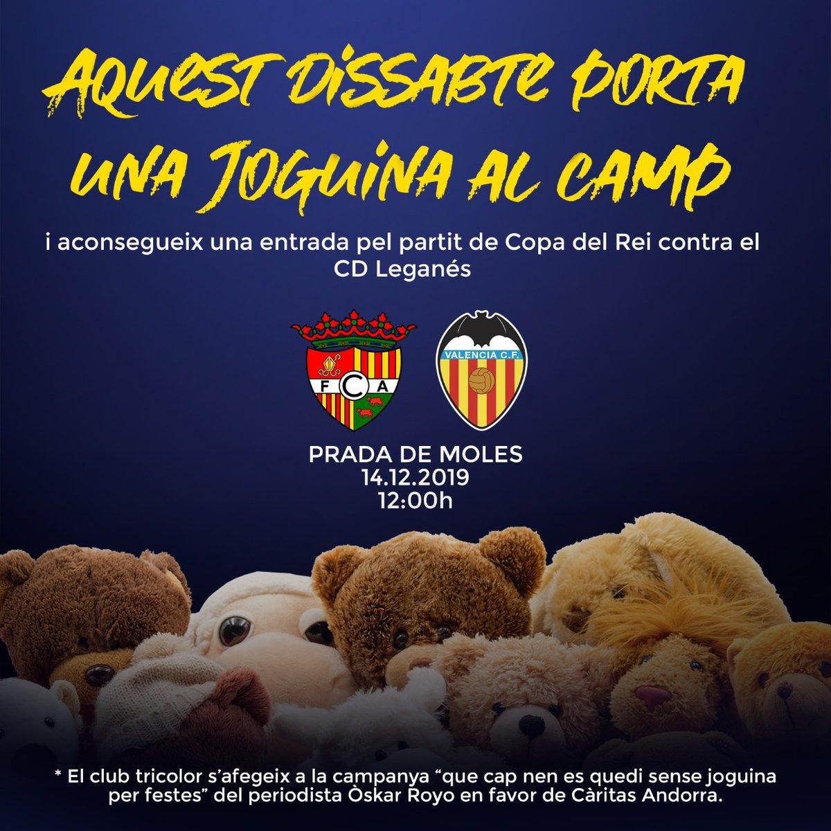 Entrada gratis al Andorra VS Leganes (copa del rey) por aportar un peluche