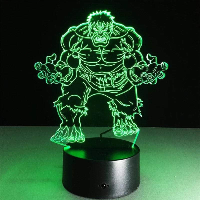 Lámpara de noche 3D RGB LED lámpara de mesa superhéroe luces de noche (5TIPOS)