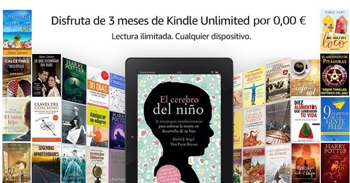 3 meses gratis de Kindle Unlimited