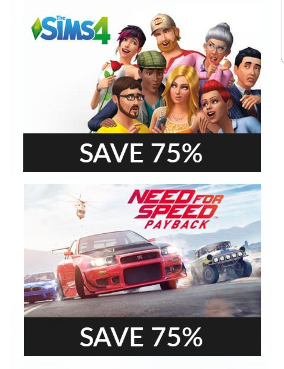 Descuentos de hasta 75% en juegos de EA (Fanatical)