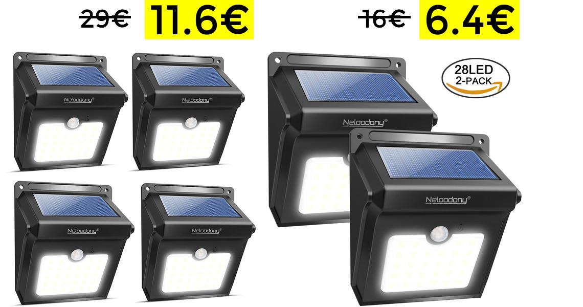 4 Lámparas solares solo 11.6€