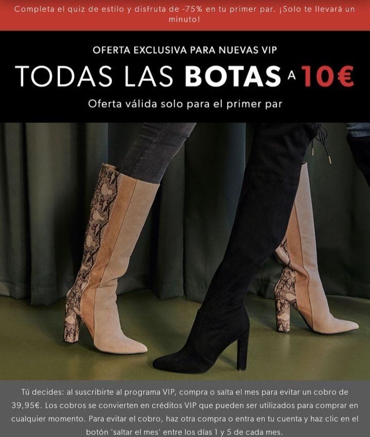 Botas y botines a 10€