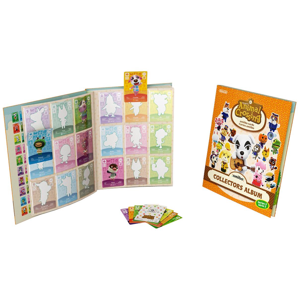 Álbum de cartas + pack 3 Tarjetas Amiibo Animal Crossing Serie 2