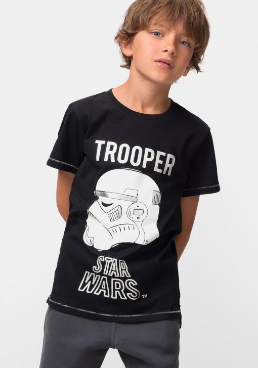 Camiseta de manga corta para niña/o ®Star Wars (Producto Licenciado)