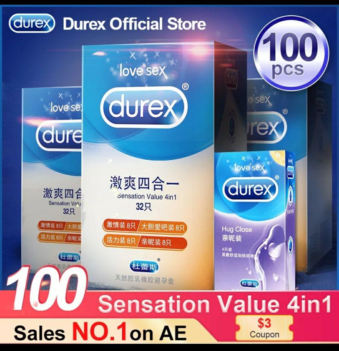 100 preservativos durex