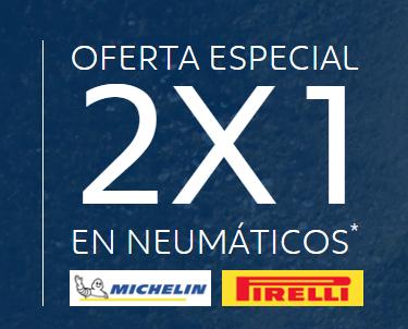 2x1 en neumáticos Pirelli y Michelin