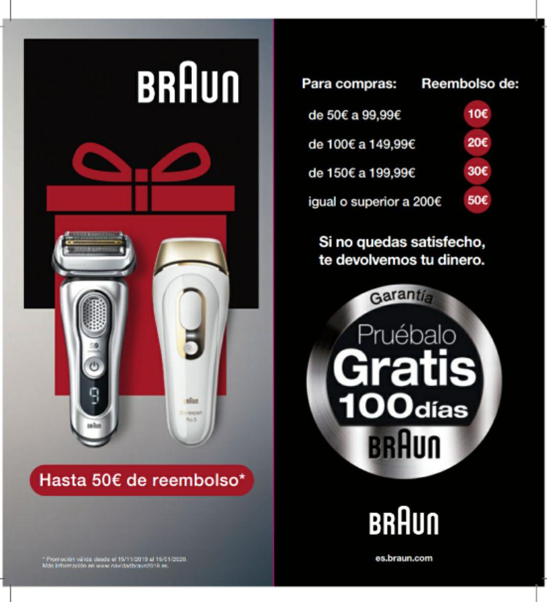 Reembolso de hasta 50€ por la compra de un artículo BRAUN