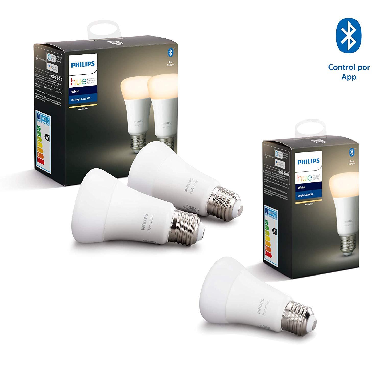 Philips Hue White Pack de 3 bombillas LED inteligentes E27
