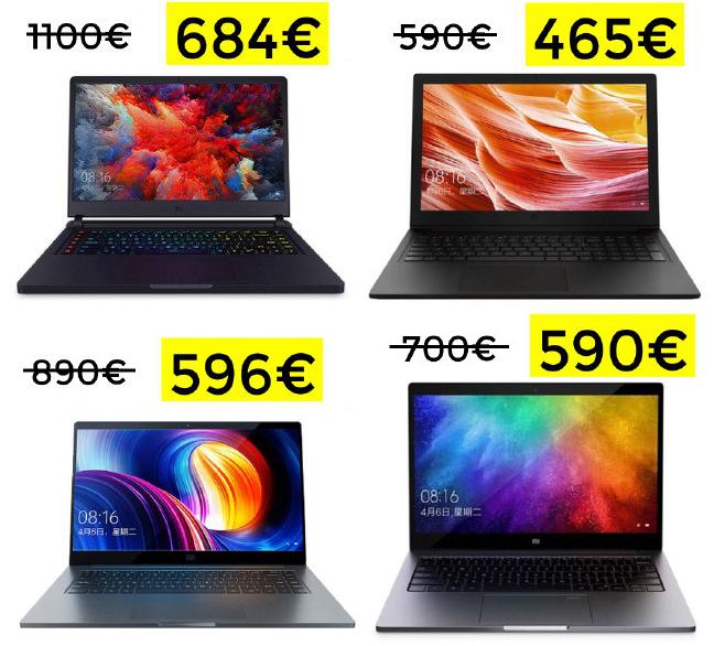 Minimazos en portátiles Xiaomi desde España