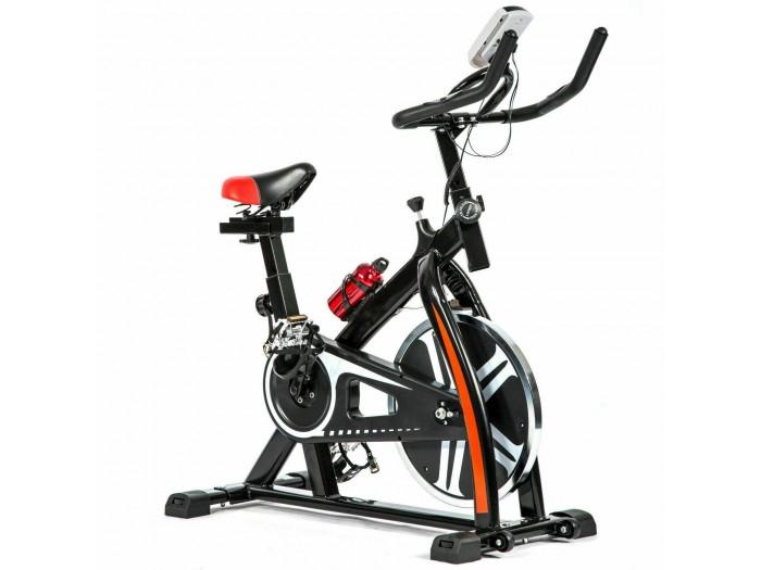 Bicicleta estática de spinning negra